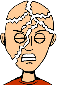 Headache clipart. Courtesy of ClipArtHut.